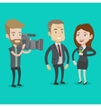 TV interview vector image