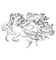 Woman on horseback vector image