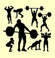 fitness and gymnastic silhouette vector image