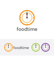 Eat time logo vector image