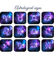 astrological signs icon set vector image