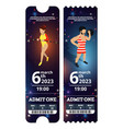 circus tickets design in vector image