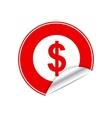 Red sticker dollar vector image