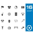 black soccer icons set vector image vector image