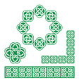 Irish Celtic green design - patterns knots vector image vector image