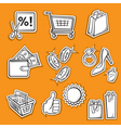 shopping set v vector image