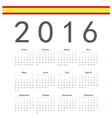 Square spanish 2016 year calendar vector image vector image