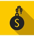 Money slave icon flat style vector image