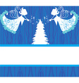 Abstract Christmas card with angels vector image