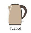 color of the teapot vector image