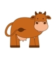 cow character isolated icon vector image
