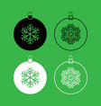 new year ball toy christmas ball or xmas bauble vector image