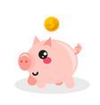 pig money box icon vector image