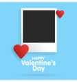 Postcard Happy Valentines Day vector image