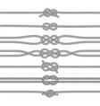 Sailing knots horizontal borders or deviders vector image