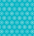 Seamless Snowflakes Blue and White Retro vector image