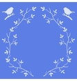 Frame of tree branches with birds vector image