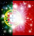 portuguese flag background vector image vector image