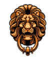 decoration of lion door knocker vector image vector image
