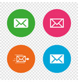 mail envelope icons message symbols vector image