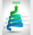Arrow twist up to success number options vector image vector image