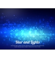 Abstract blue colorful bokeh background Festive vector image