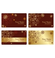 Gold business cards vector image