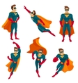 Superhero Actions Icon Set vector image