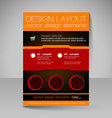 Editable template of flyer for business brochure vector image vector image