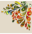 Abstract colorful drop background with Floral vector image