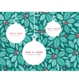 christmas holly berries Christmas ornaments vector image