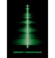Musical christmas tree card vector image
