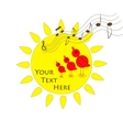 Sun birds and music vector image