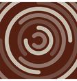 chocolate swirl vector image vector image