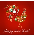 Chinese New Year rooster shape vector image