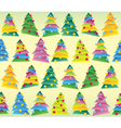 Christmas tree wrapping seamless tracery vector image