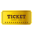 Retro golden Coupon isolated on white vector image vector image