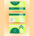 business banner website template stylized card vector image