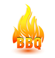 Hot barbecue logo vector image