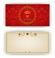 Elegant template for vip luxury invitation vector image