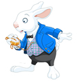 White Rabbit with pocket watch vector image vector image