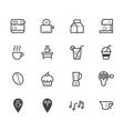 coffee cafe element black icon set on white bg vector image