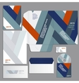 Gray corporate identity template vector image