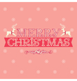 Merry Christmas card greeting vector image