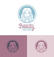 logo design template in trendy linear style vector image vector image