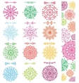 Snowflakes shapesdivider borders setpattern vector image