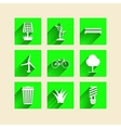 Icons for ecology vector image