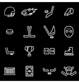 line hockey icon set vector image