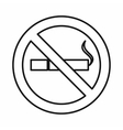 No smoking sign icon outline style vector image