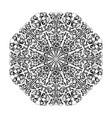 ornate floral mandala isolated on white background vector image